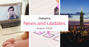 News and Updates for August 2020 - webinar, survey and Taiwan